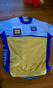My newest jersey, courtesy of Taylor. (as if I haven't had enough things hurled at me while riding in Oklahoma) I love it!